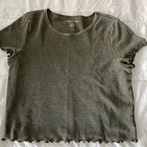 Green Cropped Tee